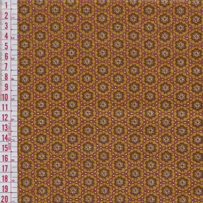 Tecido Tricoline Estampado Mini Floral - Fundo Marrom - Coleção Cosmos - Preço de 50 cm x 150 cm