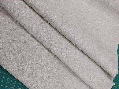 Tecido Linho Rústico Misto Caqui - Preço de 45 cm x 140 cm