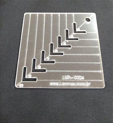 Régua de Gabarito para Caixa de Leite - De 3 cm a 10 cm
