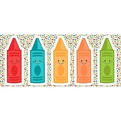 Tecido Tricoline - Pillows - Lápis Coloridos - Preço de 60 cm x 150 cm