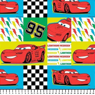 Tecidos Tricoline Estampa Infantil Carros Disney - Relâmpago McQueen - Preço de 48cm x 150cm