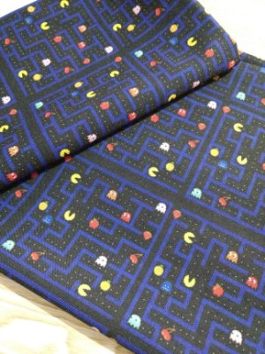 Tecido Estampa Exclusiva de Personagens - Pacman - 100% poliéster - Preço de 80cm x 60cm