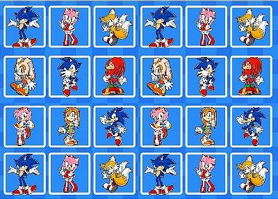 Tecido Estampa Exclusiva de Personagens - Sonic - 100% poliéster - Preço de 80cm x 60cm