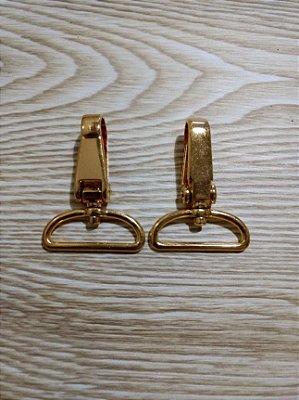Mosquetão em Metal - Dourado - 3 cm - Preço de 2 unidades