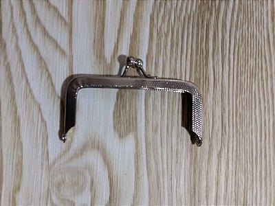 Fecho de Bolsinha/Bolsa da Vovó ou Porta Moeda - Prata - 1/3 (8 cm) - Preço por unidade