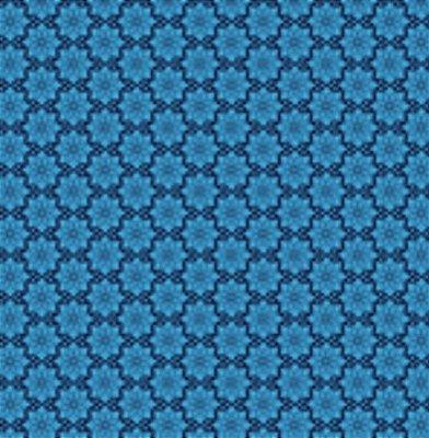 Tecido Tricoline  Estampa Floral Azul - Coleção Mourisco - 45 cm X 150 cm