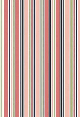 Tecido Tricoline Estampa Listrada: Rosa, Verde, Branco e Azul Marinho - Preço de 50 cm x 150 cm