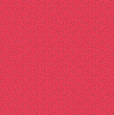 Tecido Tricoline Estampado Sementinhas - Fundo Rosa - Coleção Melan & Cia - Preço de 50cm x 150cm