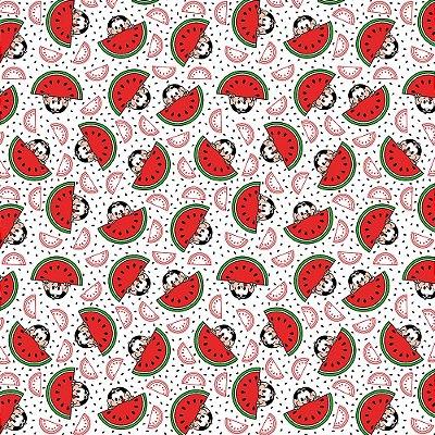 Tecido Tricoline Estampado Magali Gulosa - Coleção Turma da Mônica - Preço de 50 cm x 150 cm