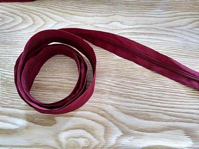 Zíper Grosso nº 5 (3 cm) - Vinho - Preço de 50cm