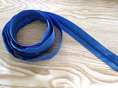 Zíper Grosso nº 5 (3 cm) - Azul Royal - Preço de 50cm