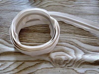 Zíper Grosso nº 5 (3 cm) - Creme - Preço de 50cm