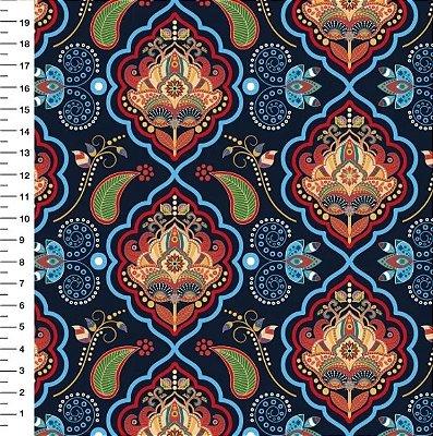Tecido Digital Bandana Azul - Preço de 50 cm x 150 cm