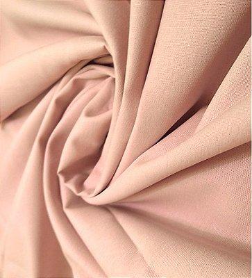 Tecido Tricoline Lisa Rosa Antigo - Preço de  50 cm x 150 cm