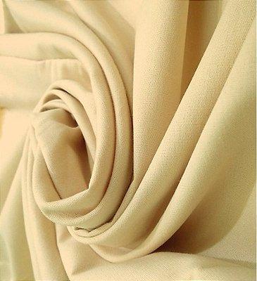 Tecido Tricoline Lisa Bege Claro - Preço de  50 cm x 150 cm