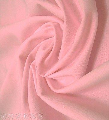 Tecido Tricoline Lisa Rosa Suave - Preço de  50 cm x 150 cm