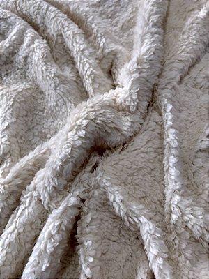 Tecido Pelúcia Carneirinho - Pelo Curto - Bege - Preço de 50cm x 150cm