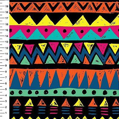 Tecido Digital - Étnico Faixas - Preço de 50cm x 150cm