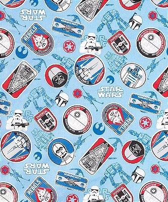 Tecido Tricoline com Estampa do Star Wars - Preço de 50 cm X 150 cm