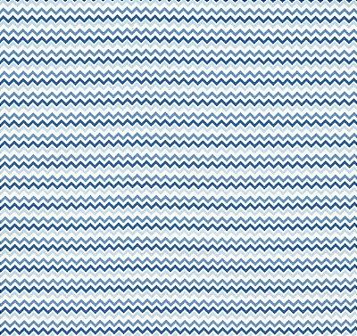 Tecido Tricoline Mini Chevron Tons de Azul  - Preço de 50 cm X 150 cm