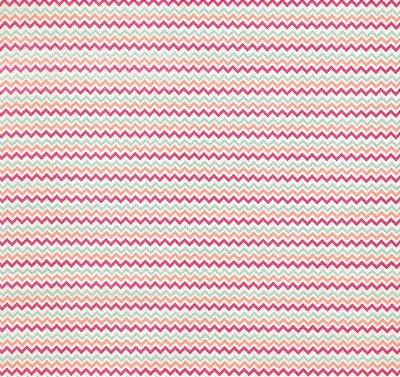 Tecido Tricoline Mini Chevron Branco, Verde Água, Rosa Pink e Salmão  - Preço de 50 cm X 150 cm