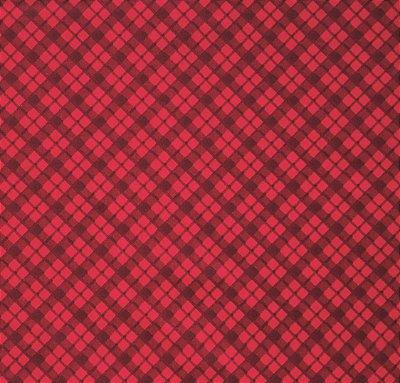 Tecido Tricoline com Estampa Xadrez - Tons de Vermelho - Preço de 50 cm X 150 cm