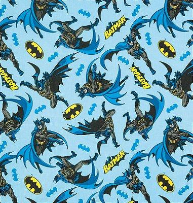 Tecido Tricoline com Estampa do Batman - Preço de 50 cm X 150 cm