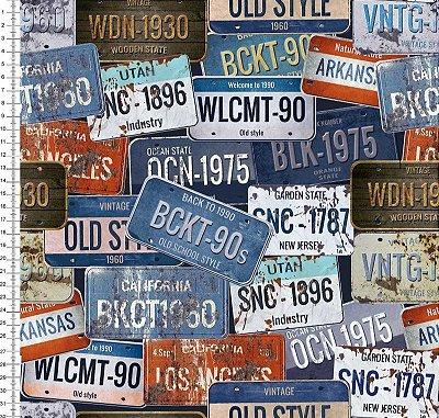 Tecido Digital - Placas de Carro - Preço de 50cm x 150cm