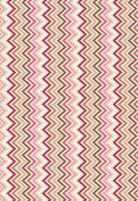 Tecido Tricoline Chevron Multicor: Marrom, Rosa Claro, Rosa Pink, Branco e Bege - Preço de 50 cm x 150 cm
