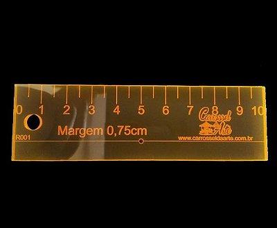 Régua Margem de Costura de 0,75cm com furo para agulha