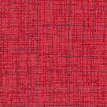 Tecido Tricoline Textura Riscada Vermelho - Coleção Neutro Tom Tom - Preço de 50 cm x 150 cm