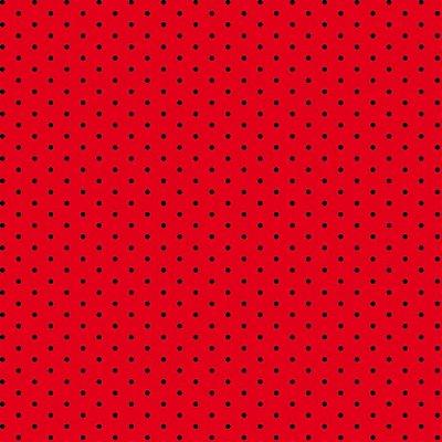 Tecido Tricoline com Poá Preto e Fundo Vermelho - Preço de 50 cm X 150 cm