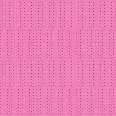 Tecido Tricoline Micro Poá Rosa Escuro - Fundo Rosa Chiclete - Preço de 50 cm x 150cm