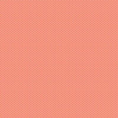 Tecido Tricoline Micro Poá Rosa - Fundo Salmão - Preço de 50 cm x 150cm