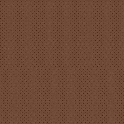 Tecido Tricoline Micro Poá Marrom - Fundo Marrom - Preço de 50 cm x 150cm
