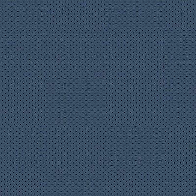 Tecido Tricoline Micro Poá Azul Escuro - Fundo Azul Noturno - Preço de 50 cm x 150cm
