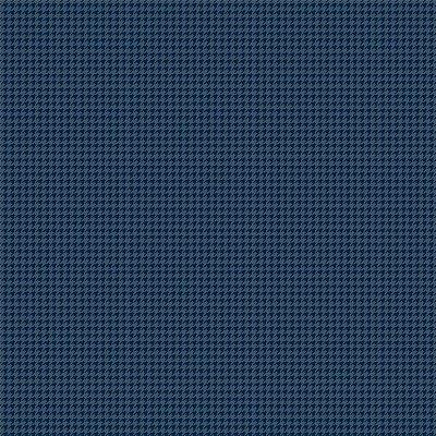 Tecido Tricoline Micro Pied De Poule Azul Escuro - Fundo Azul Noturno - Preço de 50 cm x 150cm