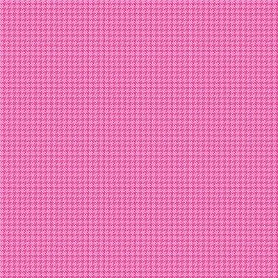 Tecido Tricoline Micro Pied De Poule Rosa Escuro - Fundo Rosa Chiclete - Preço de 50 cm x 150cm