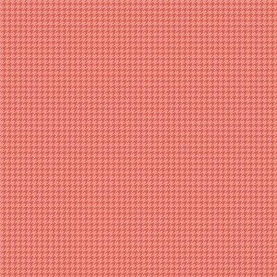Tecido Tricoline Micro Pied De Poule Rosa - Fundo Salmão - Preço de 50 cm x 150cm