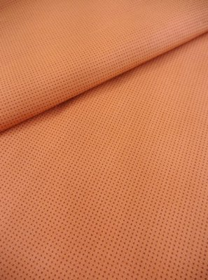 Tecido Tricoline Micro Quadriculado - Fundo Laranja - Preço de 50 cm X 150 cm