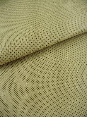 Tecido Tricoline Micro Quadriculado - Fundo Caqui - Preço de 50 cm X 150 cm