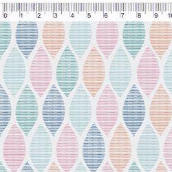 Tecido Tricoline Geométrico Colorido - Coleção Lulublu - Preço de 50 cm X 150 cm