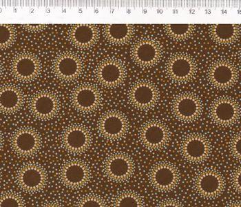 Tecido Tricoline Geométricos Centros - Coleção Corujices - Preço de 50 cm X 150 cm