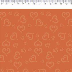 Tecido Tricoline Coração - Fundo Preto - Coleção Baltimore - Por Tais Favero - Preço de 50cm x 150cm