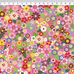 Tecido Tricoline Flores - Coleção Chapeuzinho Vermelho - Preço de 50 cm x 150 cm