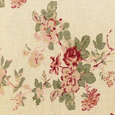 Tecido de Linho para Patchwork - Floral Rosê - Coleção Rose Garden - Preço de 50 cm X 140 cm