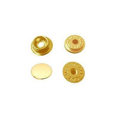 Botão de Pressão Eberle 7.130.80.6.F - Dourado - Valor de 10 unidades