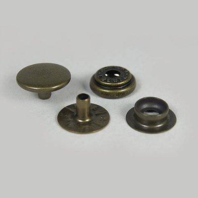 Botão de Pressão Eberle 7.130.80.6.F - Ouro Velho - Valor de 10 unidades