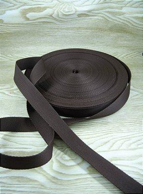 Alça Chic Para Bolsa de Poliéster Marrom - 3 cm - Preço de 3cm x 50cm
