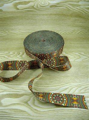 Alça Chic Para Bolsa de Poliéster Mandala - 4 cm - Preço de 4cm x 50cm